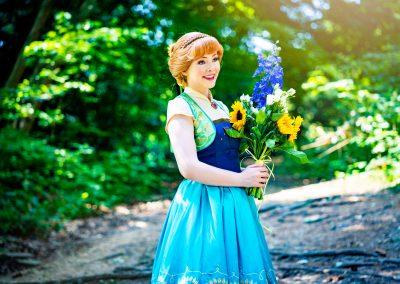 Prinses Anna in haar zomerjurk