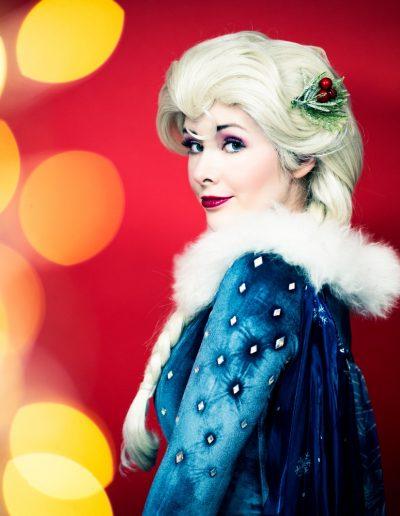Koningin Elsa ijskoningin kerstjurk - Magical Part kinderfeestje evenementen