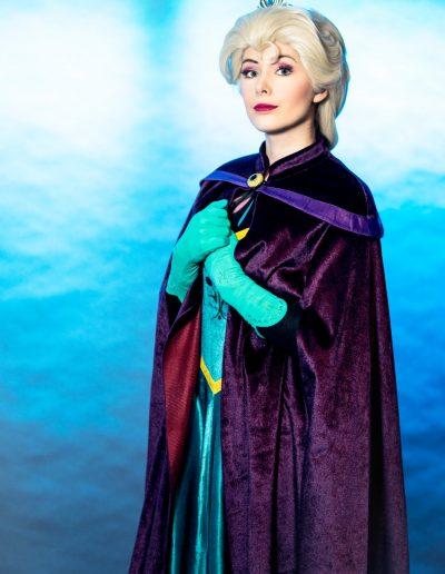 Koningin Elsa ijskoningin kroningsjurk - Magical Part kinderfeestje evenementen