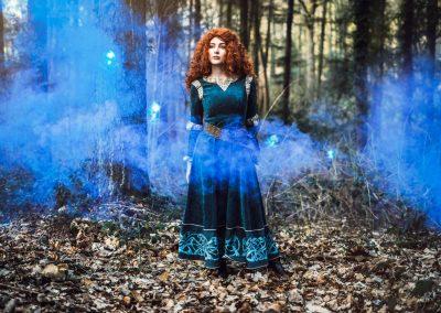Prinses Merida Magical Party kinderfeestje prinsessenfeestje blauw horizontaal