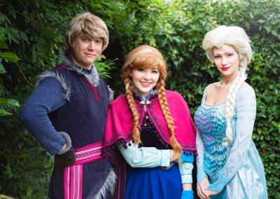 Anna, Elsa en Kristoff Magical Party kinderfeestje prinses inhuren show evenementen entertainment