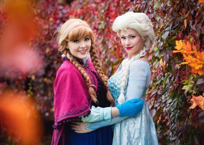 Sneeuwzusjes Anna en Elsa Magical Party kinderfeestje prinses inhuren prinsessenfeestje